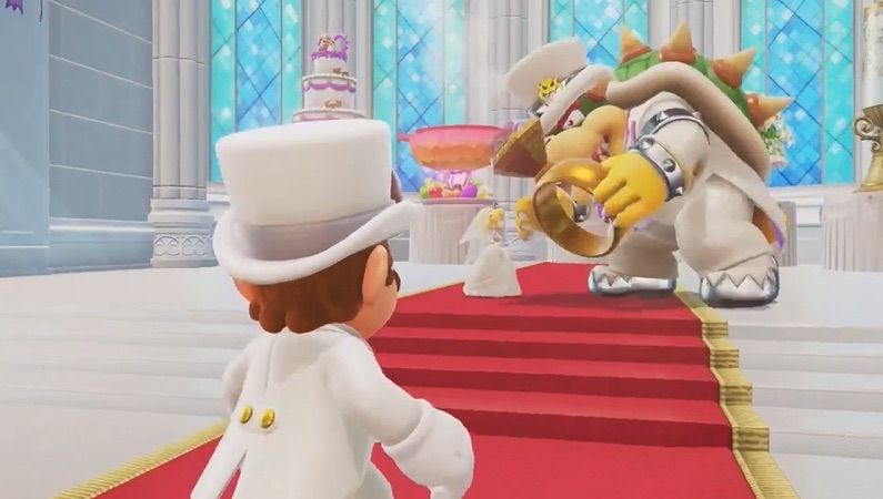Why was the wedding on the moon?   Mario Odyssey Amino