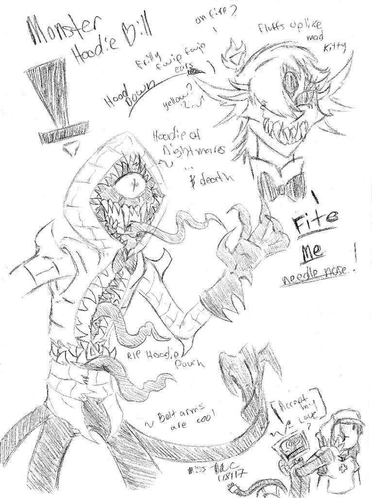 monster object head sketches gravity falls amino