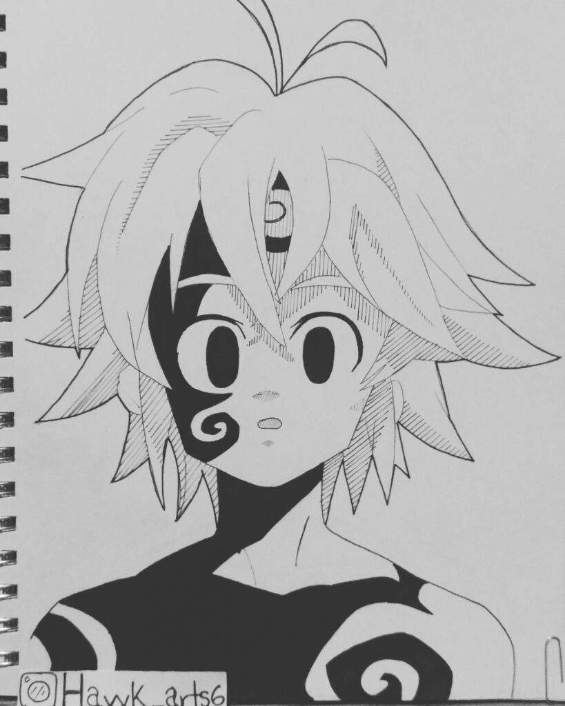 Dibujos Anime: Dibujo De Meliodas Estilo Manga
