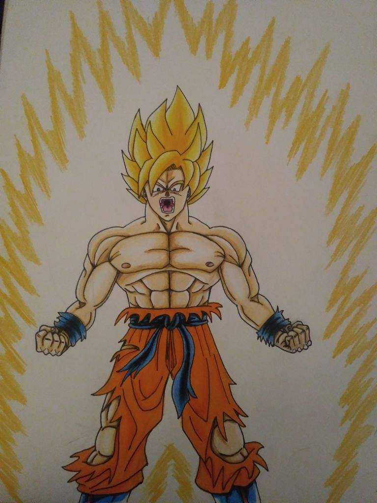 drawing goku ssj dragonballz amino