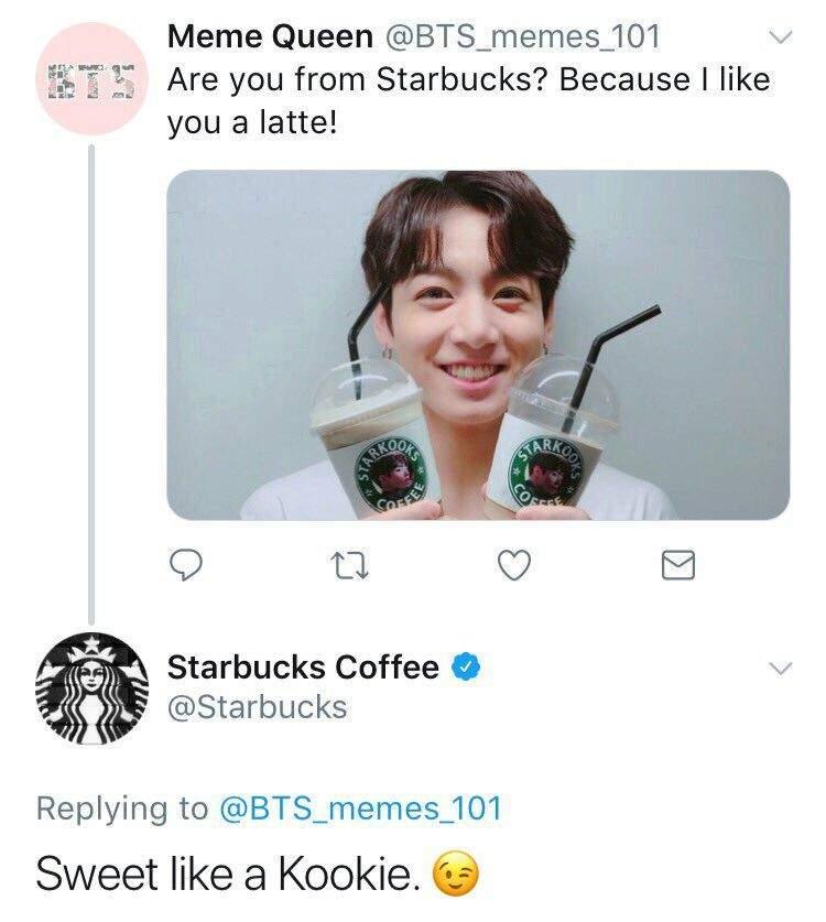 9630152a501 Starbucks respondió un Tweet de una ARMY | ARMY's Amino Amino