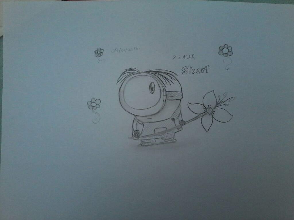 Dibujo De Un Minion En Lapiz Negro Dibujarte Amino