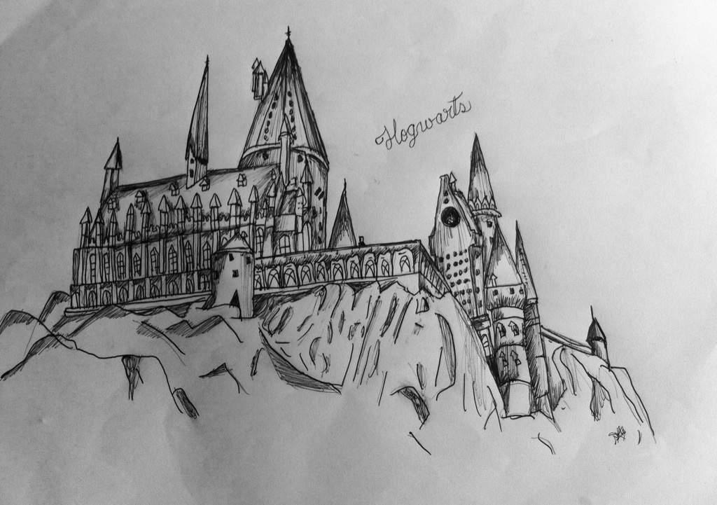 Dibujos Para Colorear Harry Potter: Castillo De Hogwarts Dibujo