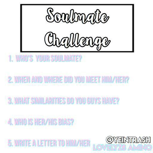 Soul mate challenge