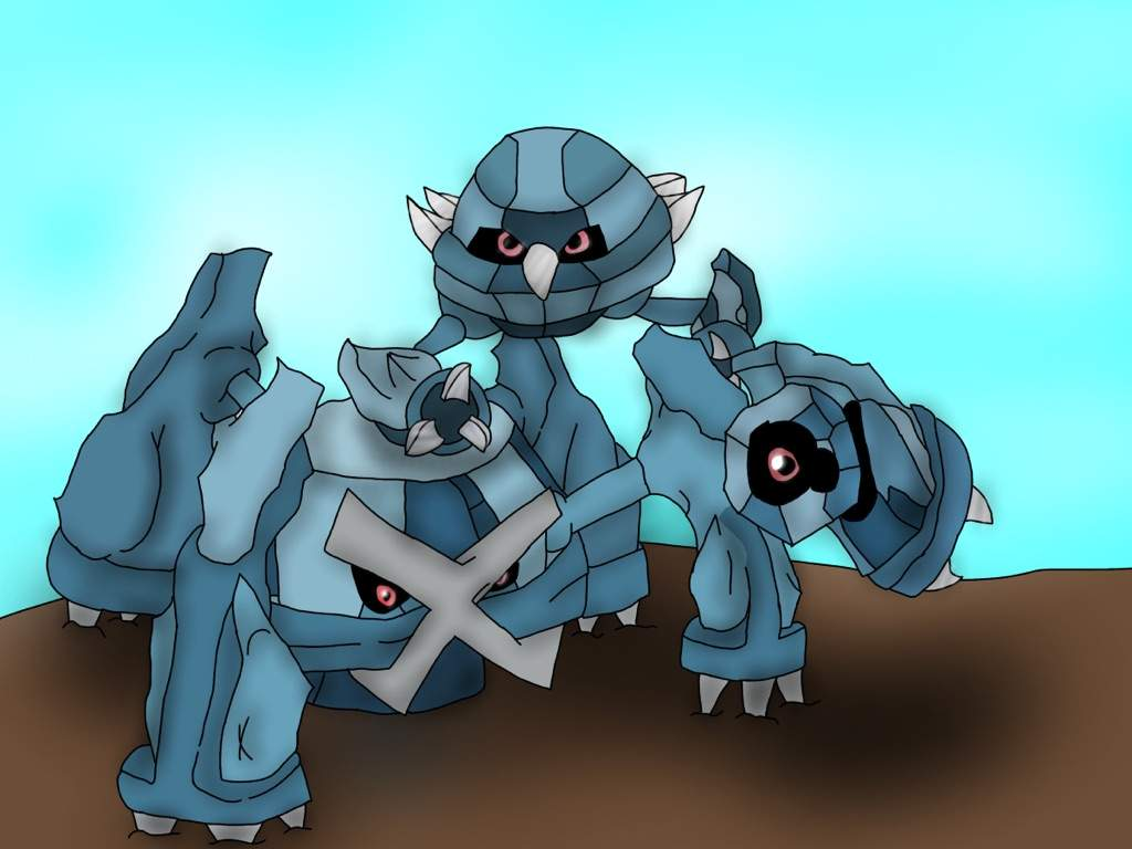 Beldum Metang Metagross Digitalized Pokémon Amino