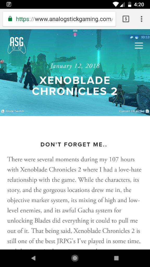 My Xenoblade Chronicles 2 Review Is Here Xenoblade Amino