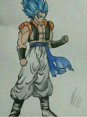 Meu Desenho Do Gogeta Blue Dragon Ball Oficial Amino