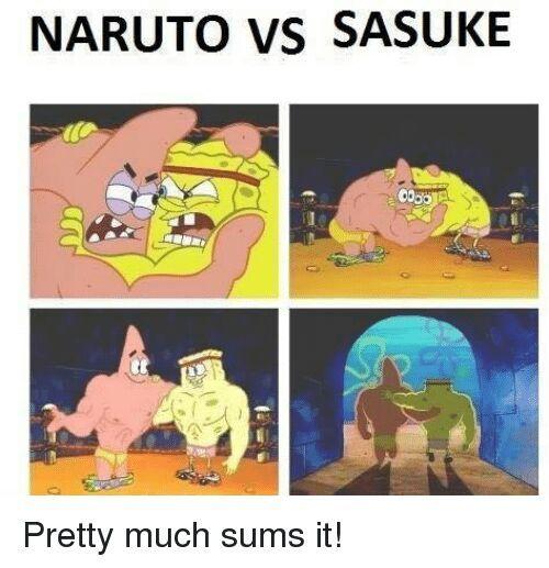 Naruto Vs Sasuke Meme Anime Amino