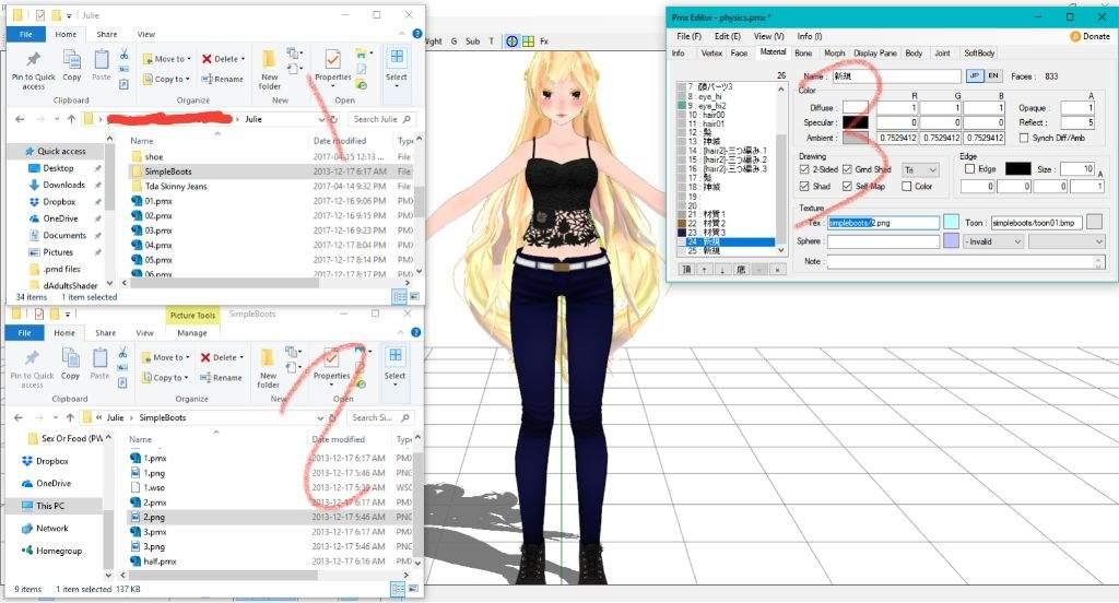 Q: How do I fix a white model? | MMD Amino