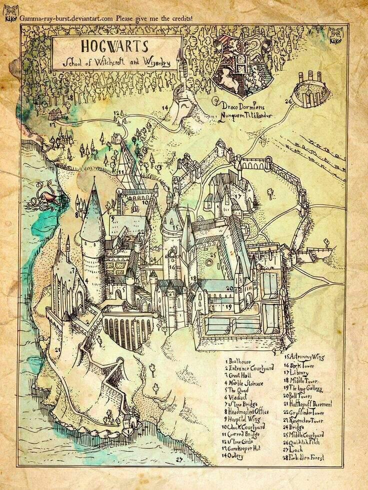 mapa de hogwarts Mapas de Hogwarts | •Harry Potter• Español Amino mapa de hogwarts