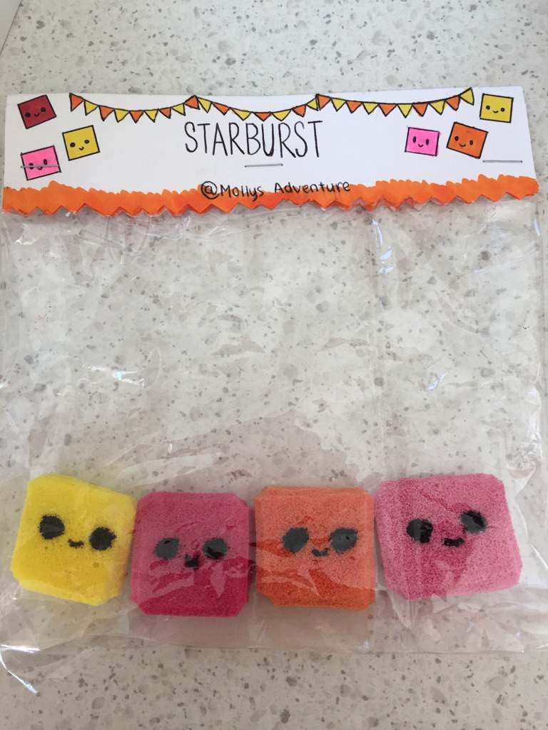 Homemade Starburst chew squishies