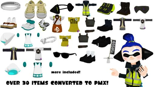 MMD) Splatoon Clothes To PMX DL   Splatoon Amino