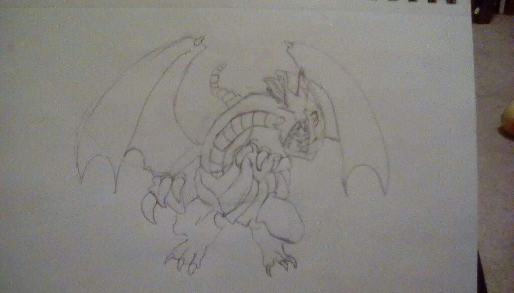 How to draw blue eyes white dragon step by