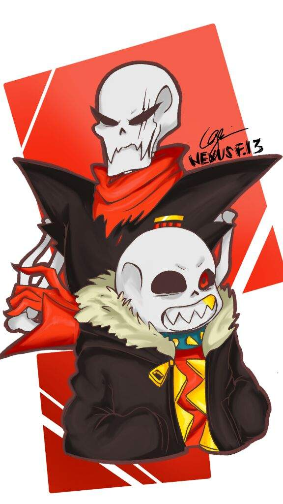Underfell Papyrus and Sans | Undertale Amino