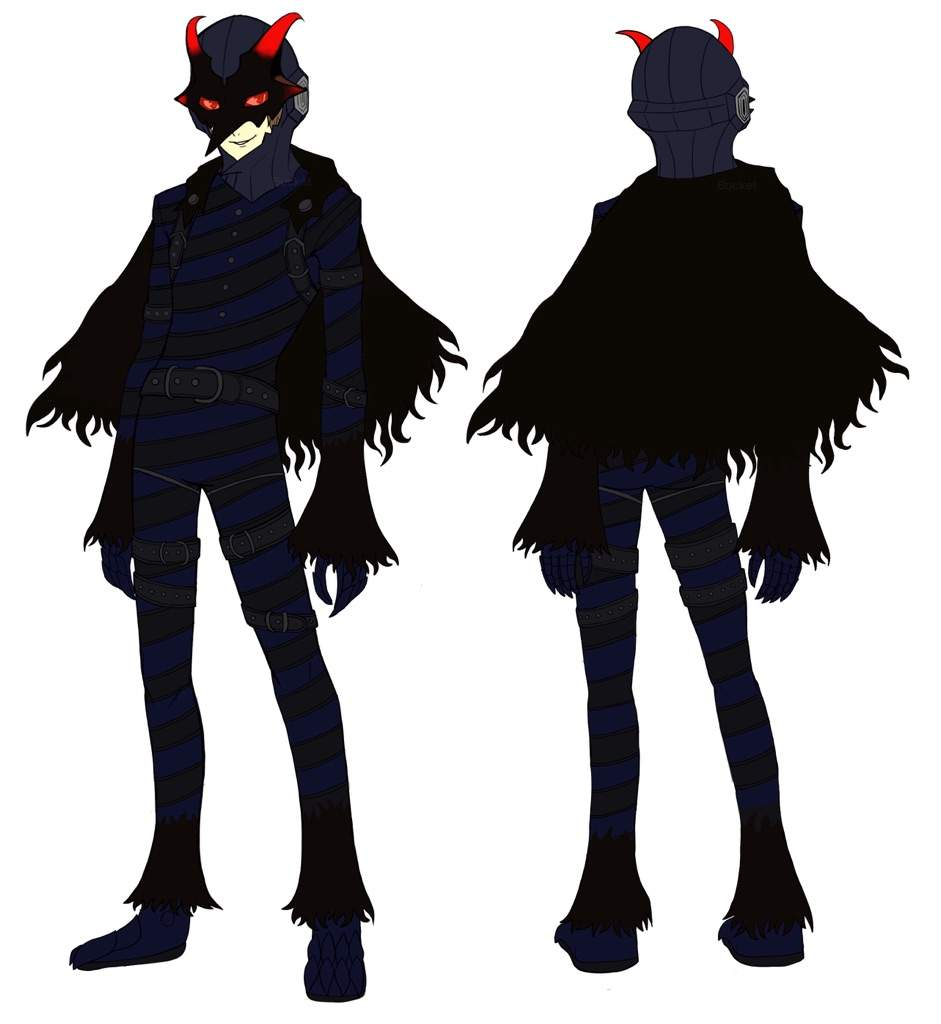 Akechi's 'Black Mask' Reference Sheet