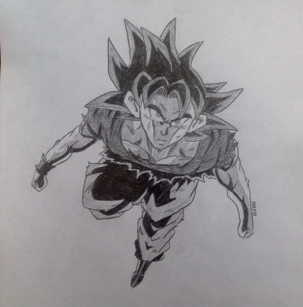 Uio goku pencil sketch no reference dragonballz amino