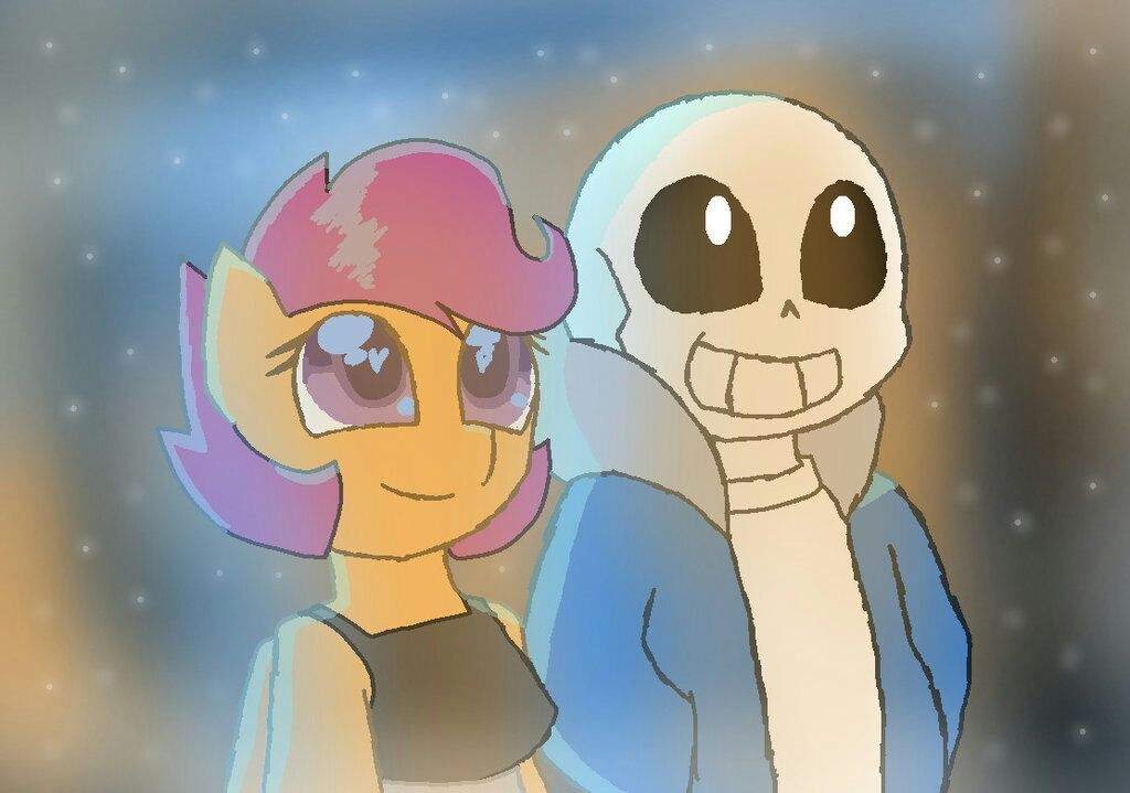 Scootaloo X Sans Undertale Ships Amino She probably won't.i think i also screwed up her design a bit. sans undertale ships amino