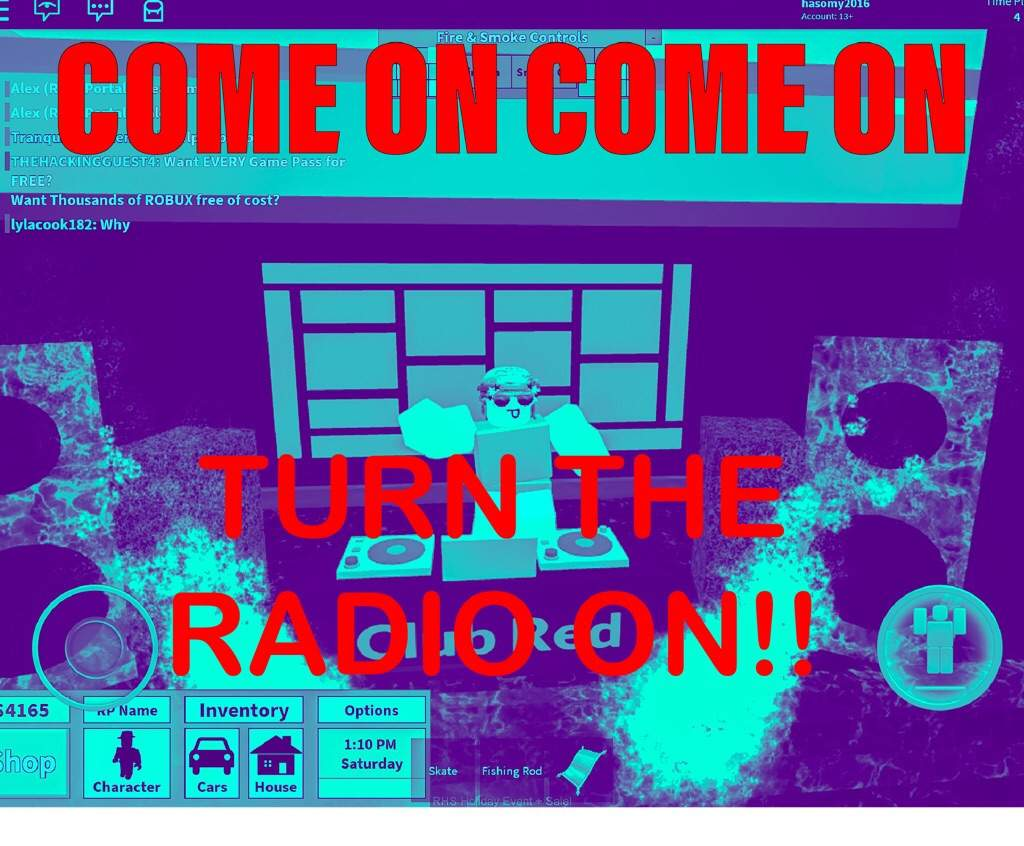Come On Noob Be Like Come On Turn The Radio On Roblox Amino