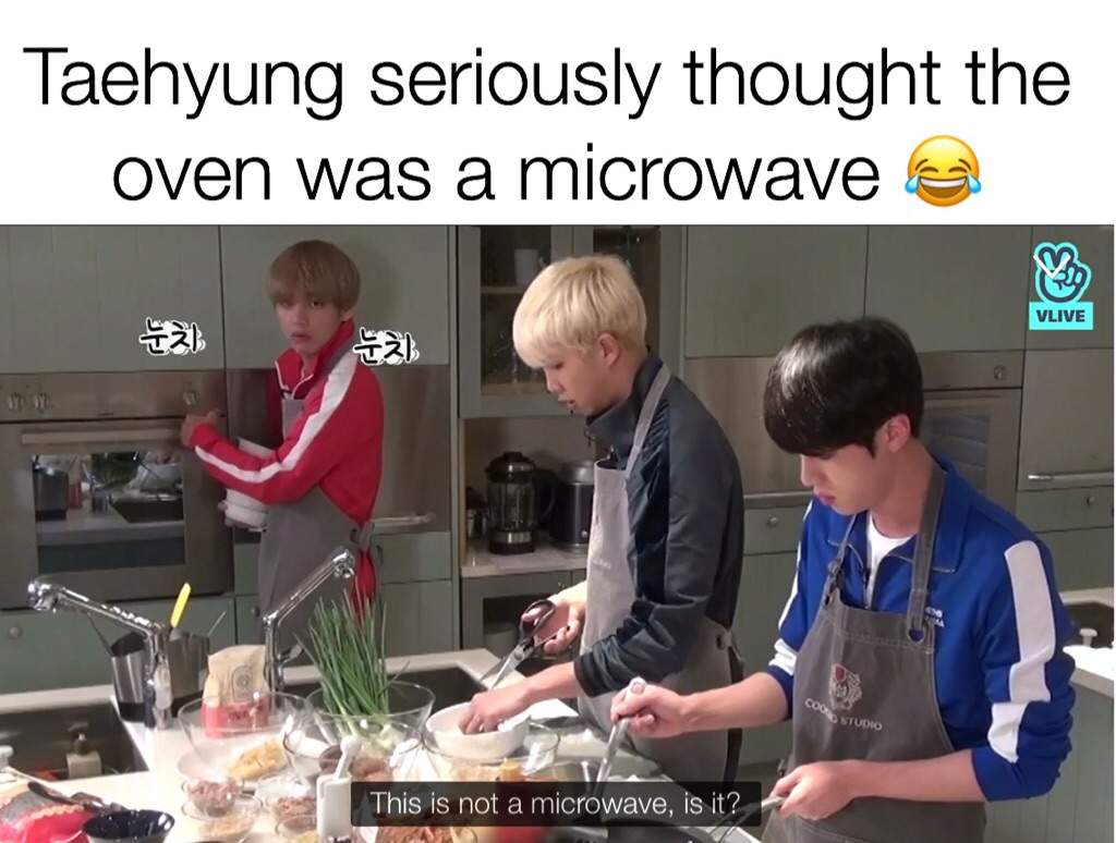 Who let him in the kitchen