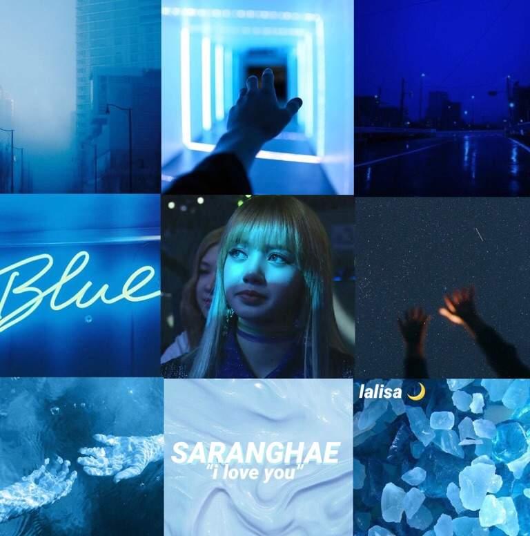 Lisa Blue Aesthetics Blackpink 블랙핑크 Amino