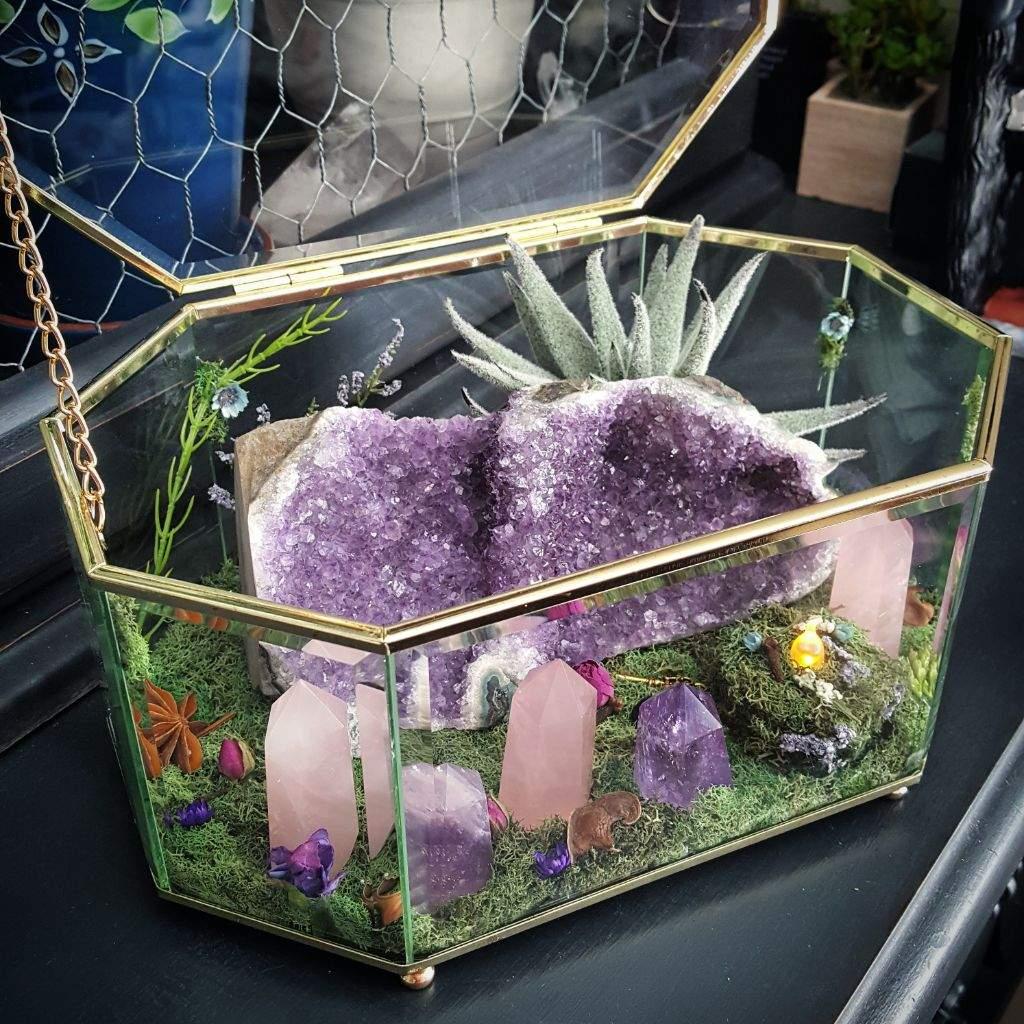 amethyst geode crystal garden pagans witches amino - Crystal Garden