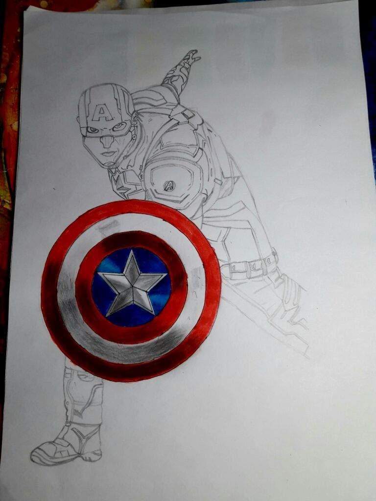 Dibujo de Capitan America   •Cómics• Amino