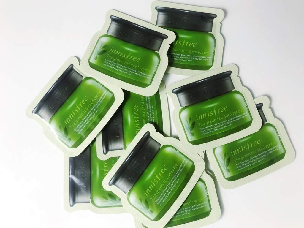 Roseroseshop Haul Review Korean Beauty Amino Innisfree Green Tea Seed Eye Cream Samples X10