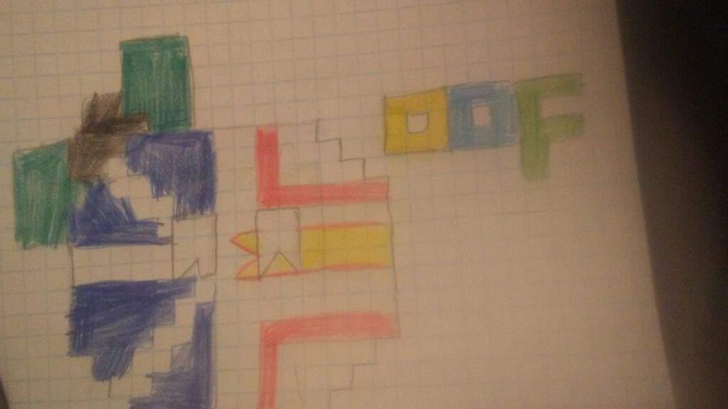 graph paper pixel art polandball amino