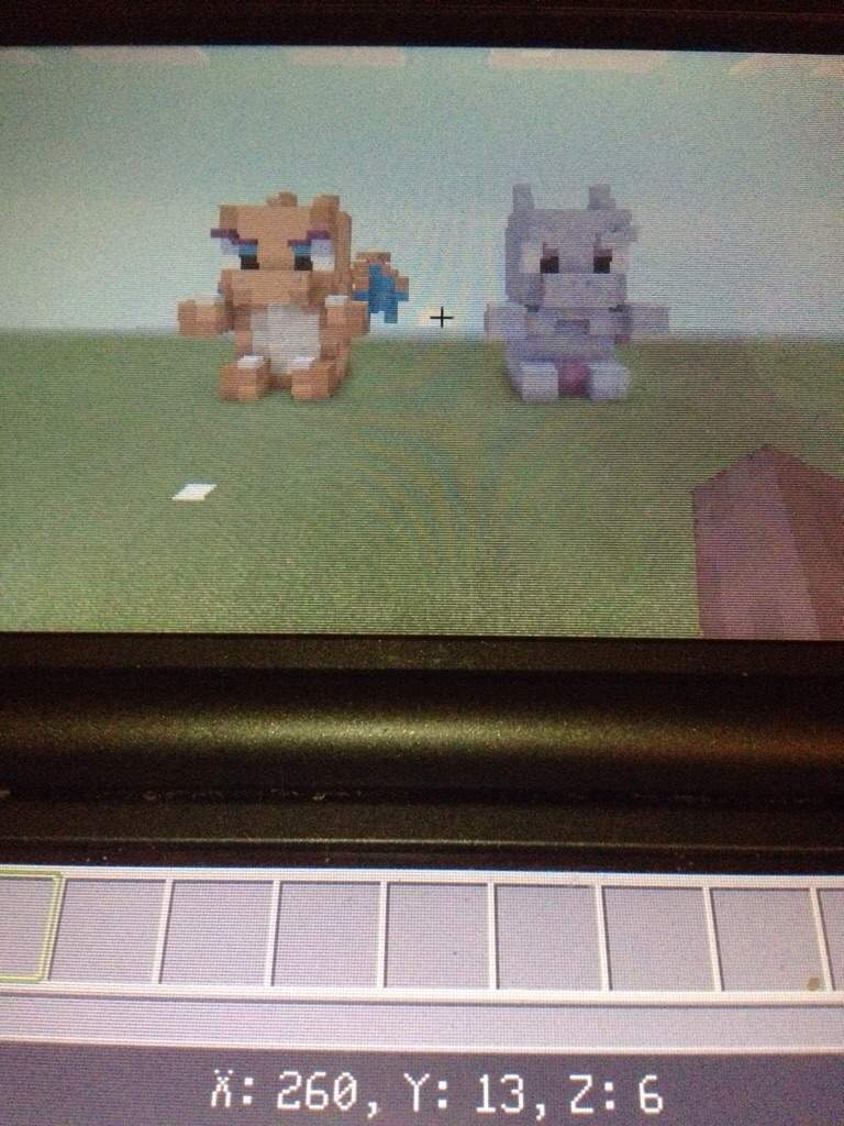 My 2 Pokemon Statues In Minecraft 3ds Version Pokemon Amino