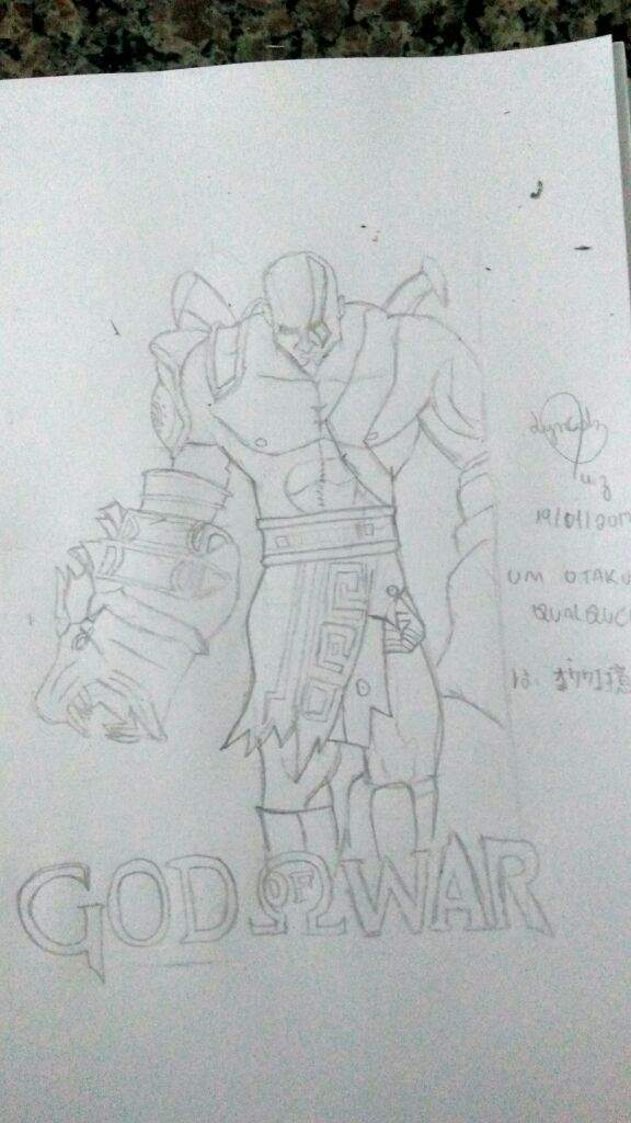 Kratos God Of War Iii Desenhistas Magistrais Amino