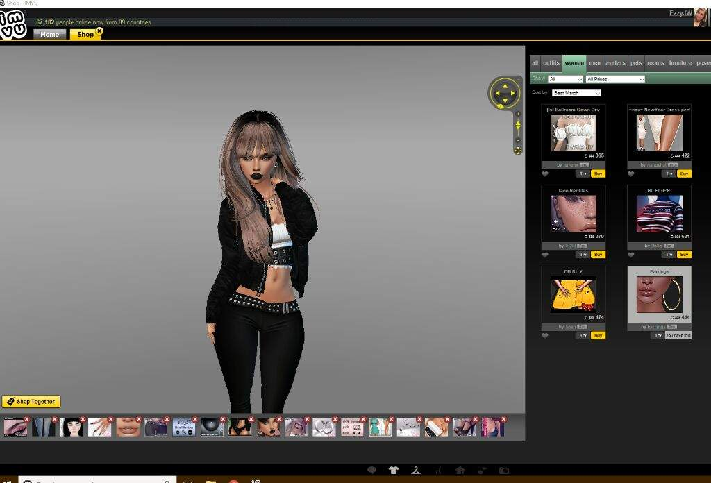 How I take pictures in shop and edit them | IMVU Amino