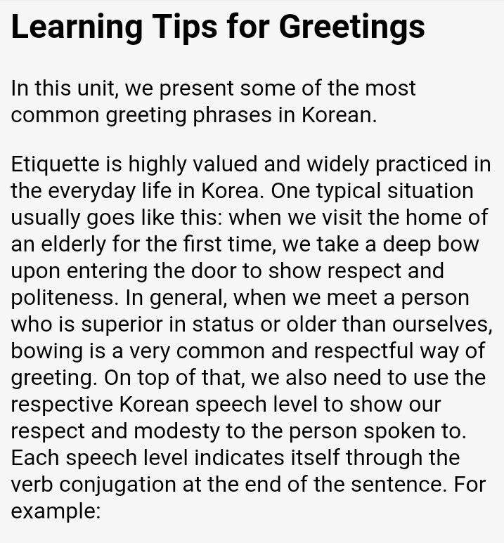 greetings in korean