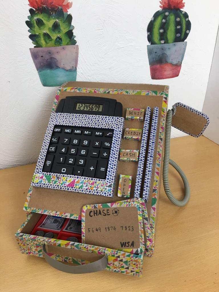 Diy Cardboard Cash Register Part 1 Crafty Amino