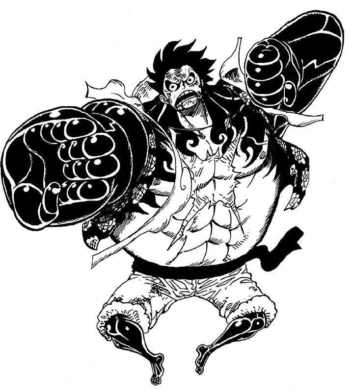 Luffy Gear 4 Tattoo: Luffy Gear 5th And Awakening