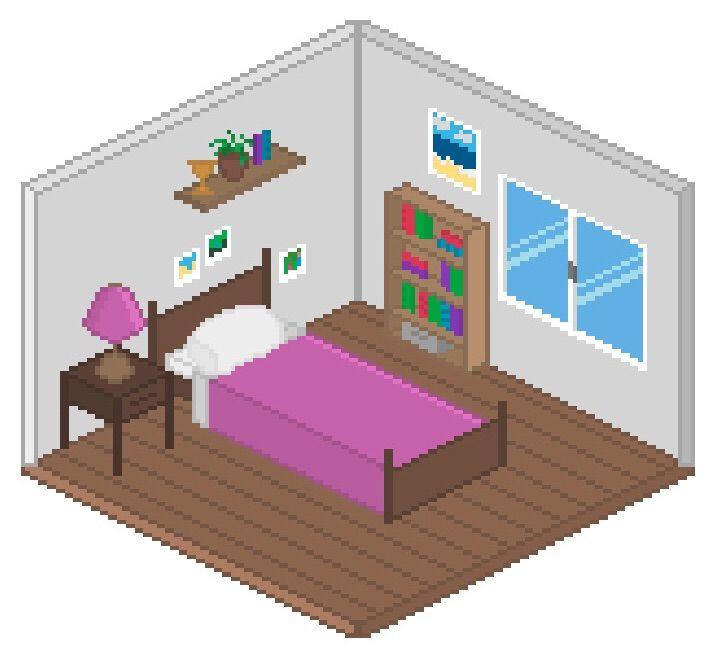 Bedroom Colour Room Pixel Art Bedroom Contemporary Bedroom Lighting Bedroom Decor White