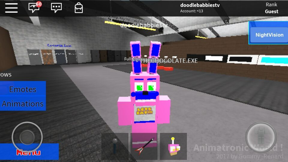 Roblox Doodle In Animatronic World Five Nights At Freddy S Amino