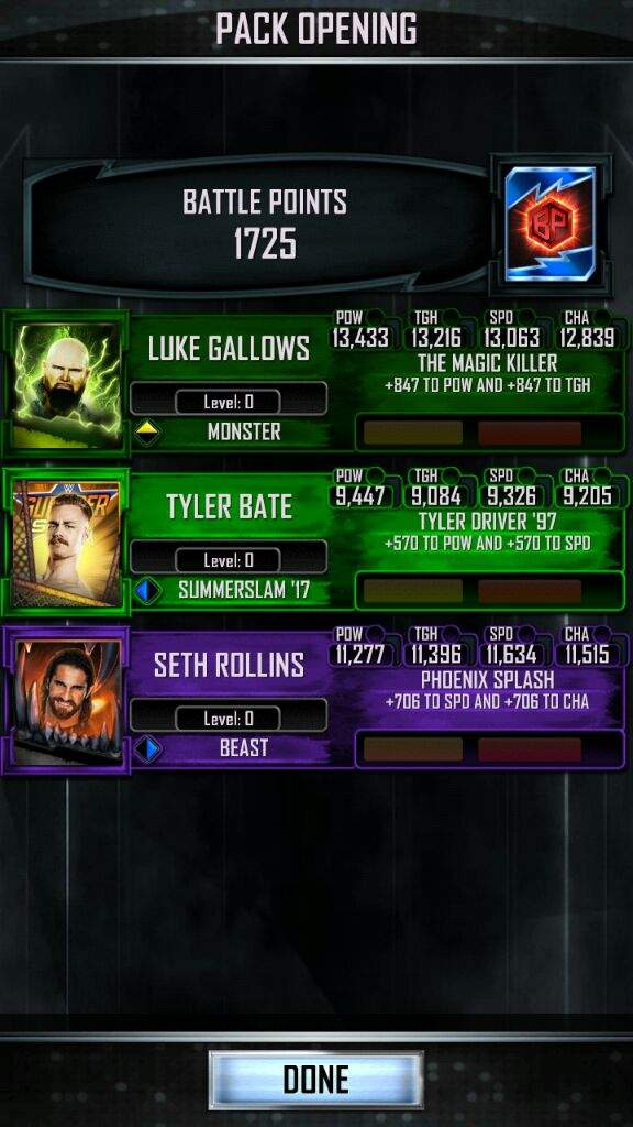 Monster tbg rewards + Beast login | WWE Supercard Amino Amino