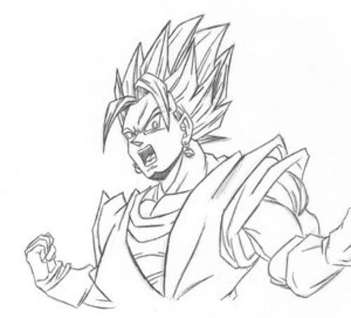 Best Imagenes De Dragon Ball Z Vegito Para Colorear Image Collection