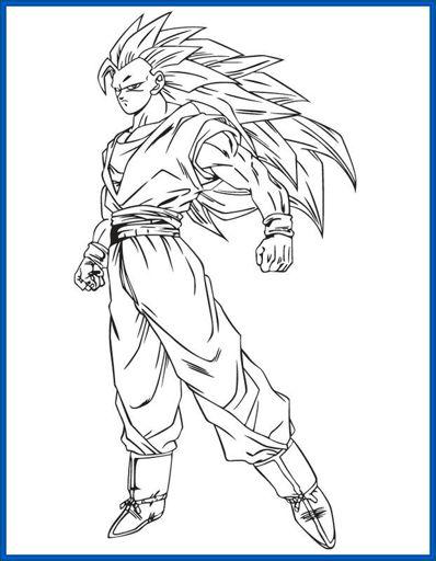 Imagen Las Mejores Imagenes De Goku Para Colorear E