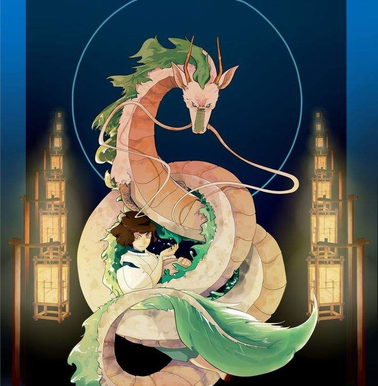 Spirited Away | Haku [Dragon form] | Digital Art | Anime Amino