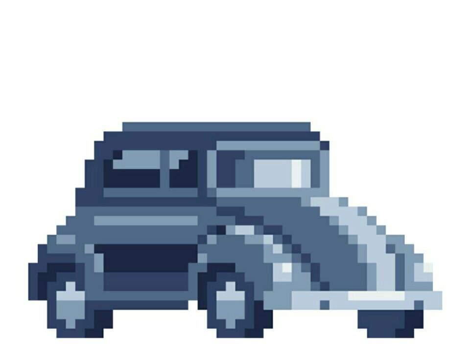 Pixel Art Car Do Not Steal Voxel Art Amino