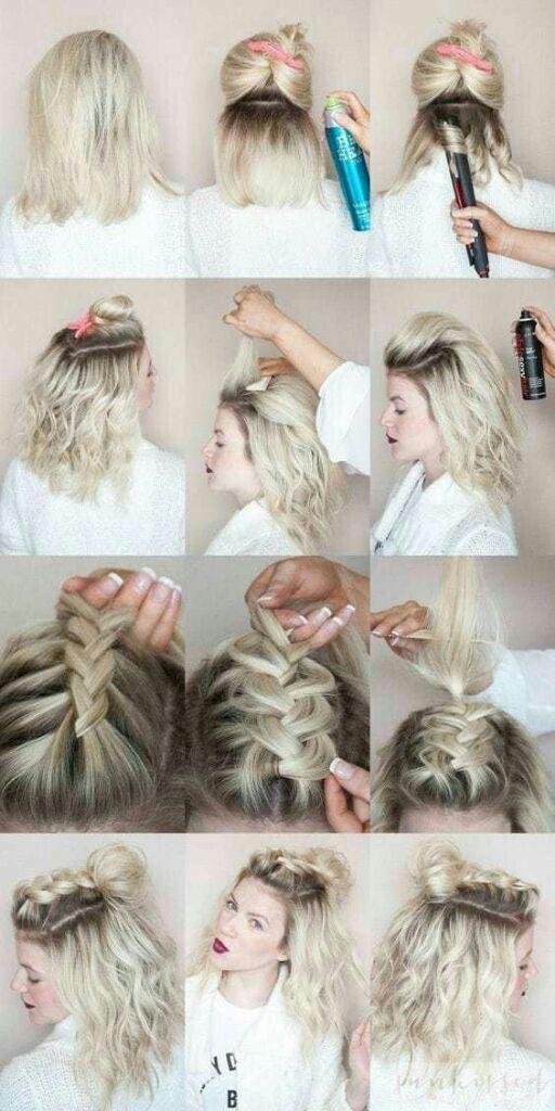 Peinados Para Cabello Corto Y Chino Tumblr Peinados Novias