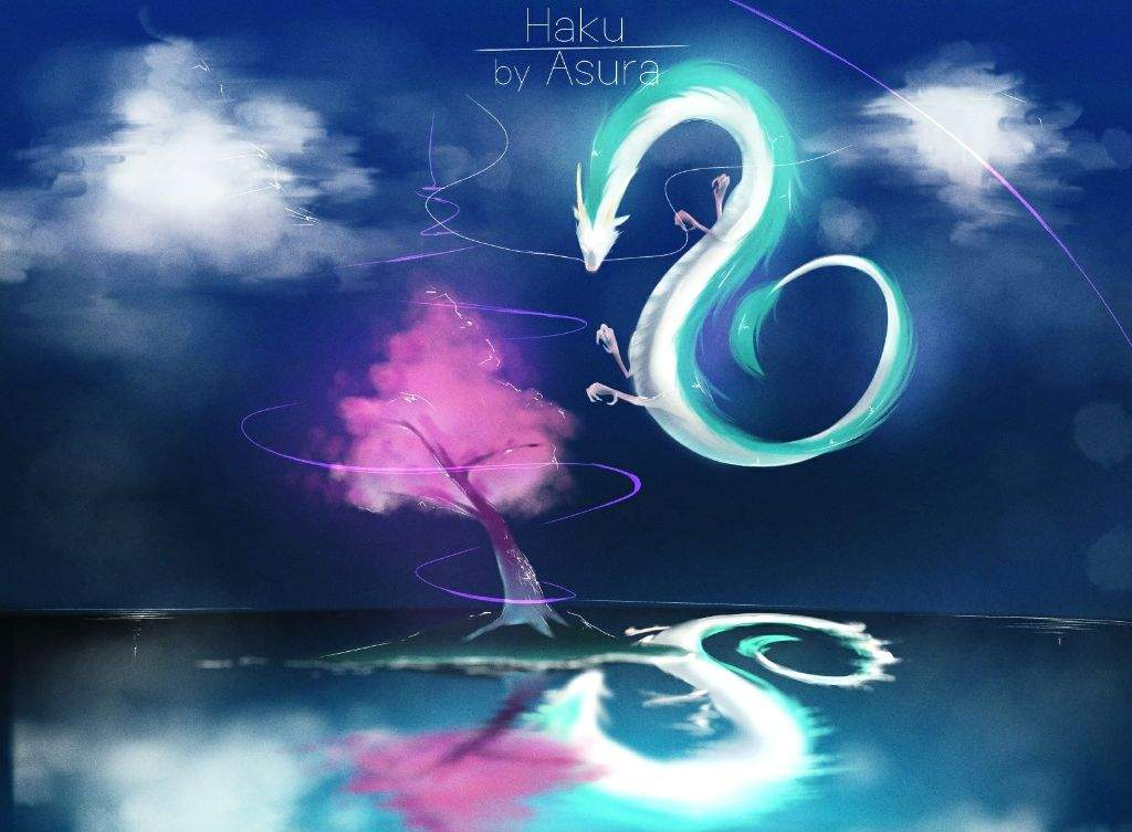 Spirited Away Haku Dragon Form Digital Art Anime Amino