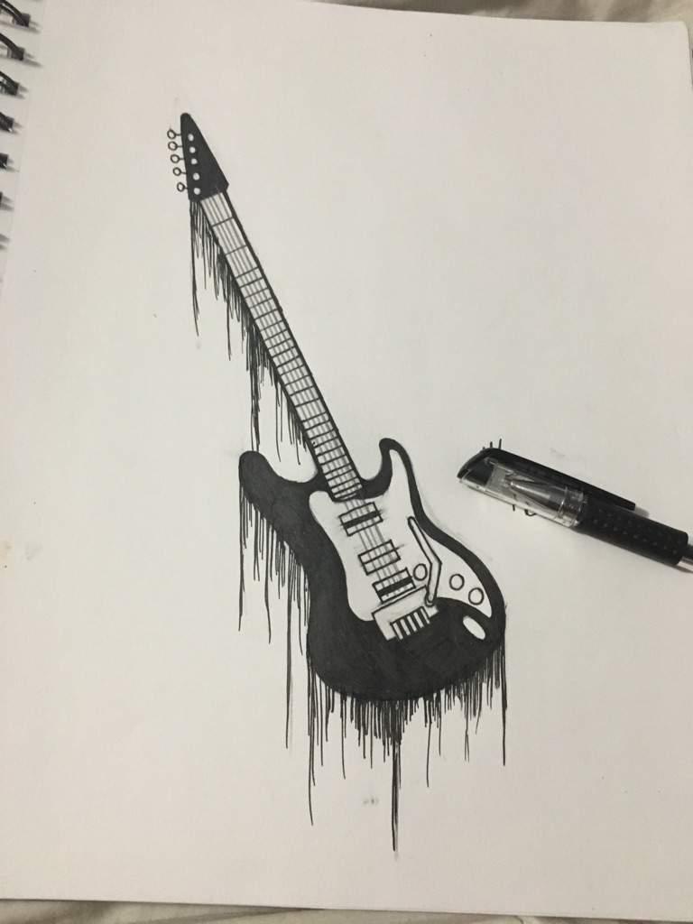 картинка гитара ручка моду