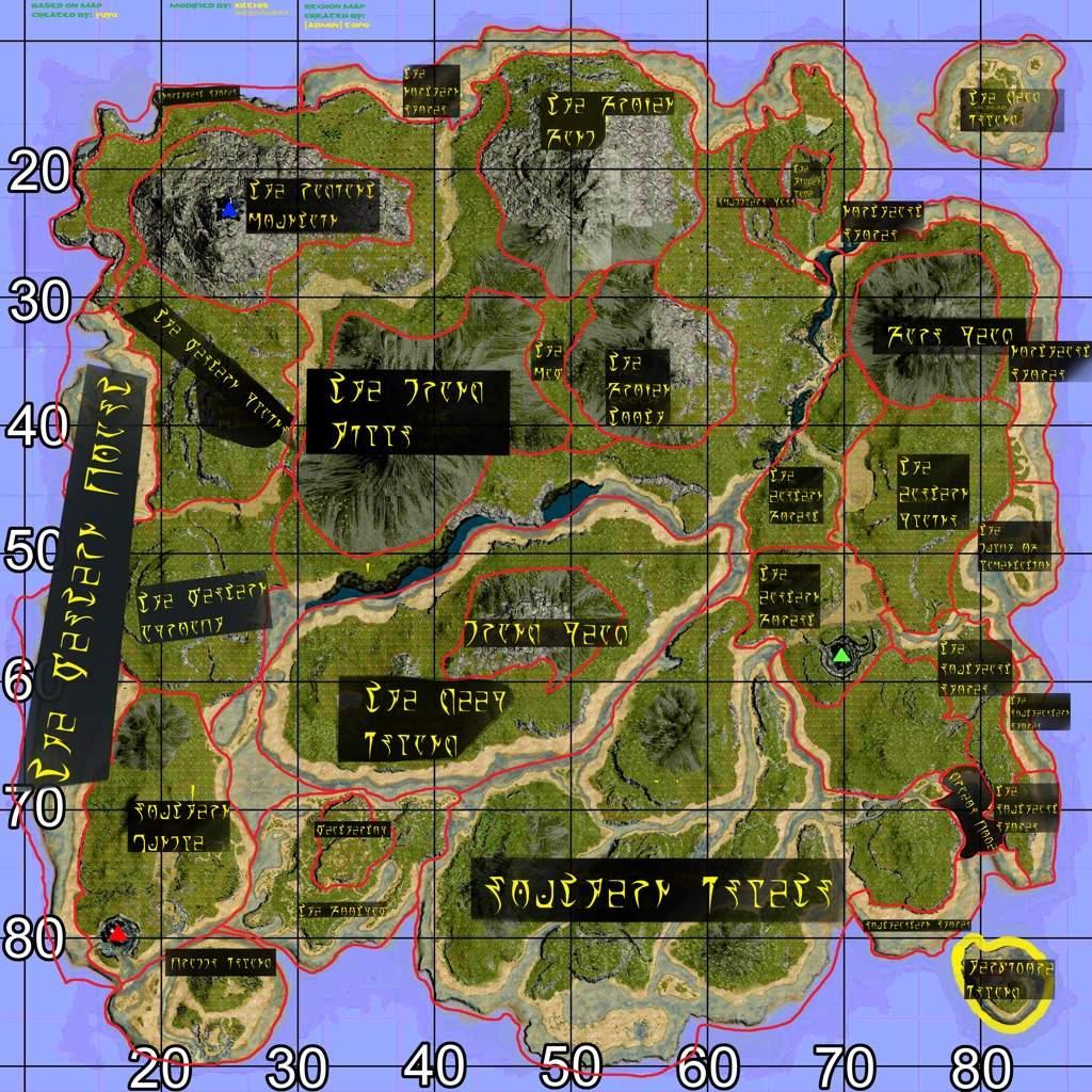 Zones On The Island Map Ark