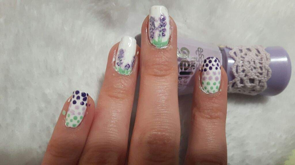 Lavender nails + what\'s on my other hand? | Nail Art Amino