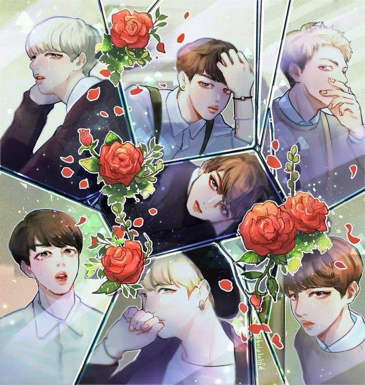 okay so the bts drawings look cute adorable i cant even say but they all are my babies
