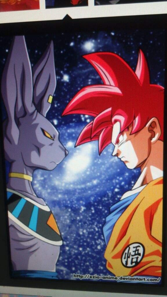 Desenho Goku God Vs Bills Dragon Ball Oficial Amino