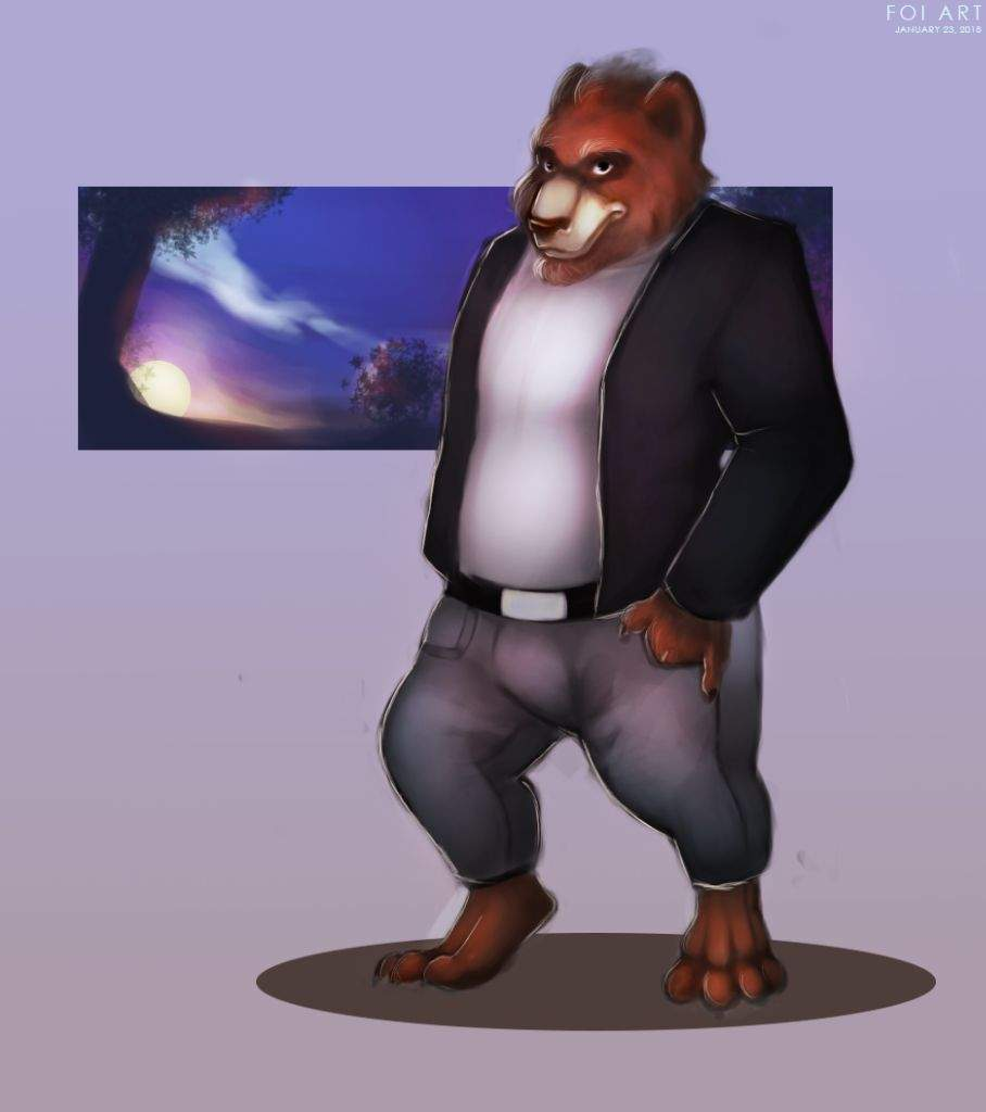 First Ever Commission And Anthro Bear Drawing Art Amino
