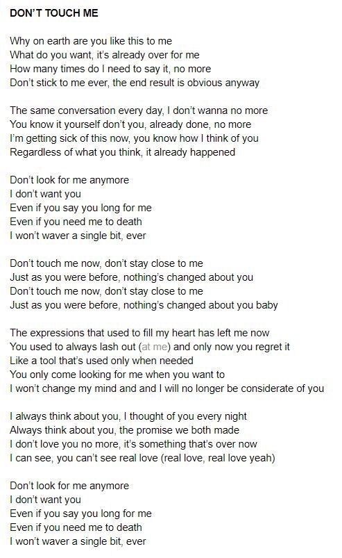 don t think i can t love you lyrics